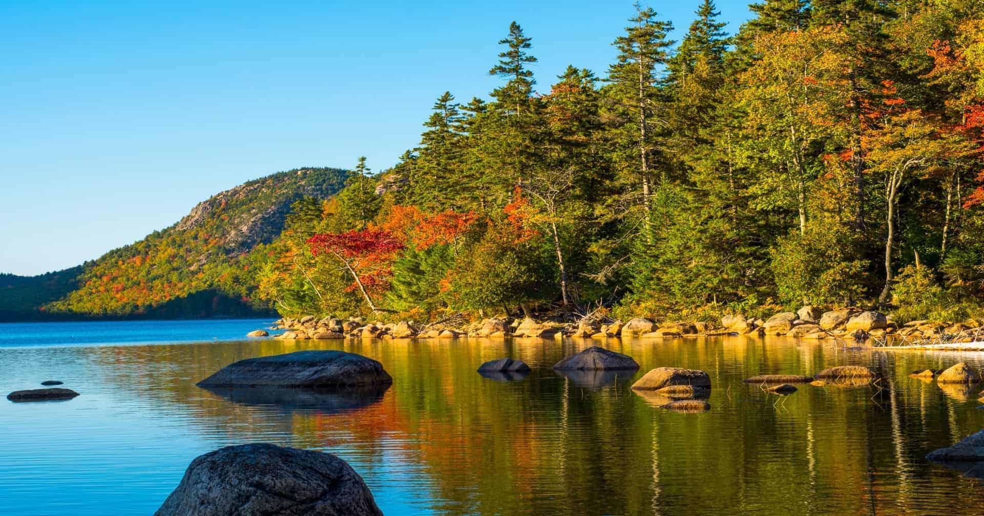 Jordan Pond in Acadia National Park Maine