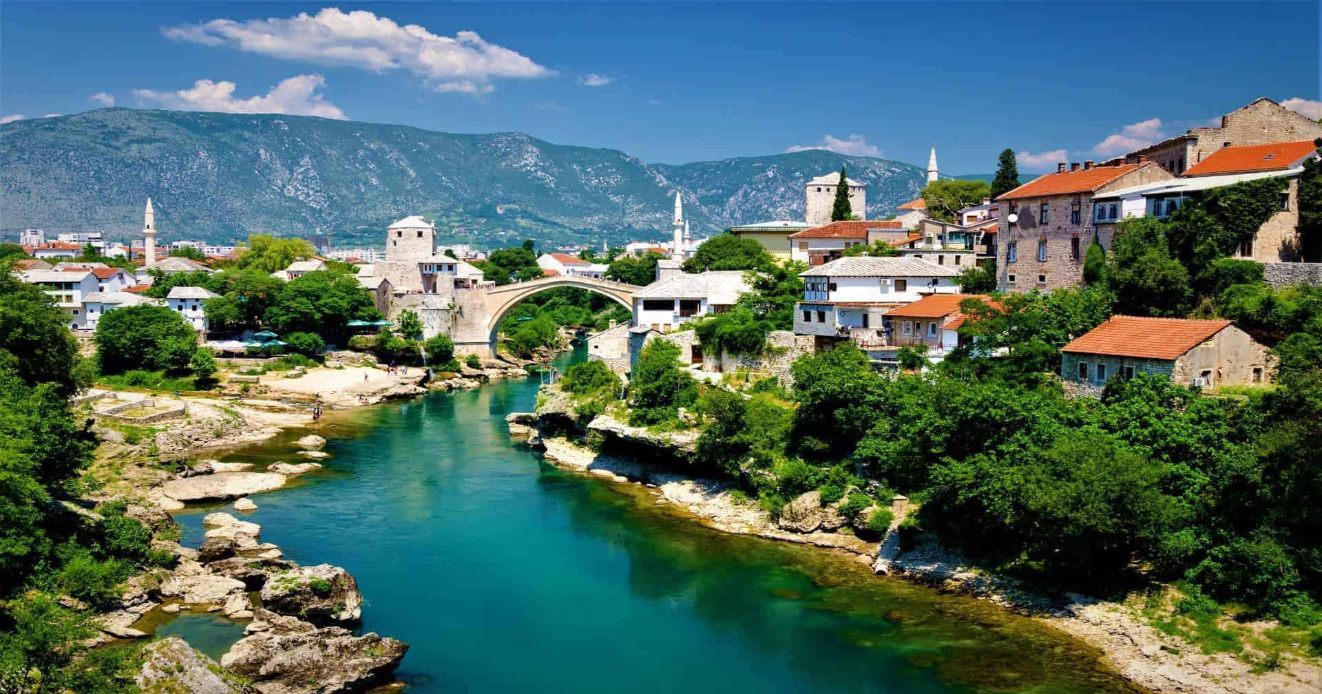 Old Bridge in Mostar Bosnia and Herzegovina