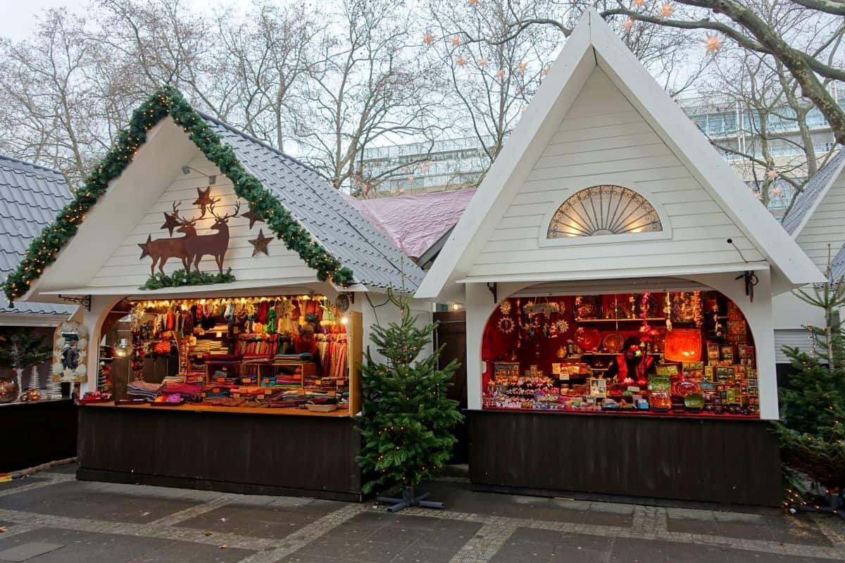 Stalls Cologne Christmas markets Germany