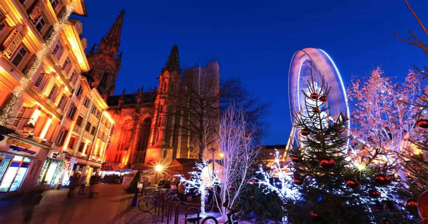 Christmas market in mulhouse France