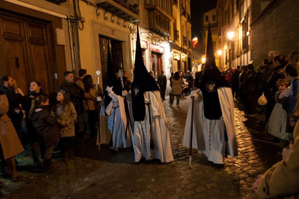 Semana Santa procession in Granada Spain