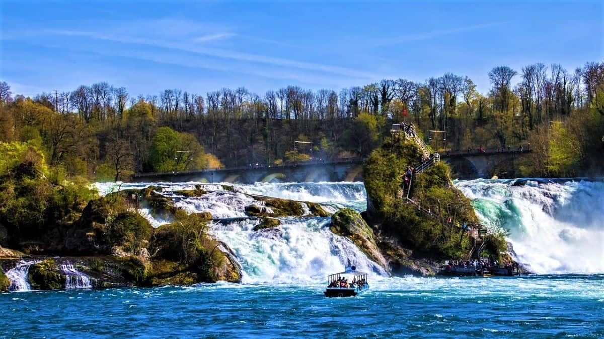 Rhine Falls Waterfall Switzerland