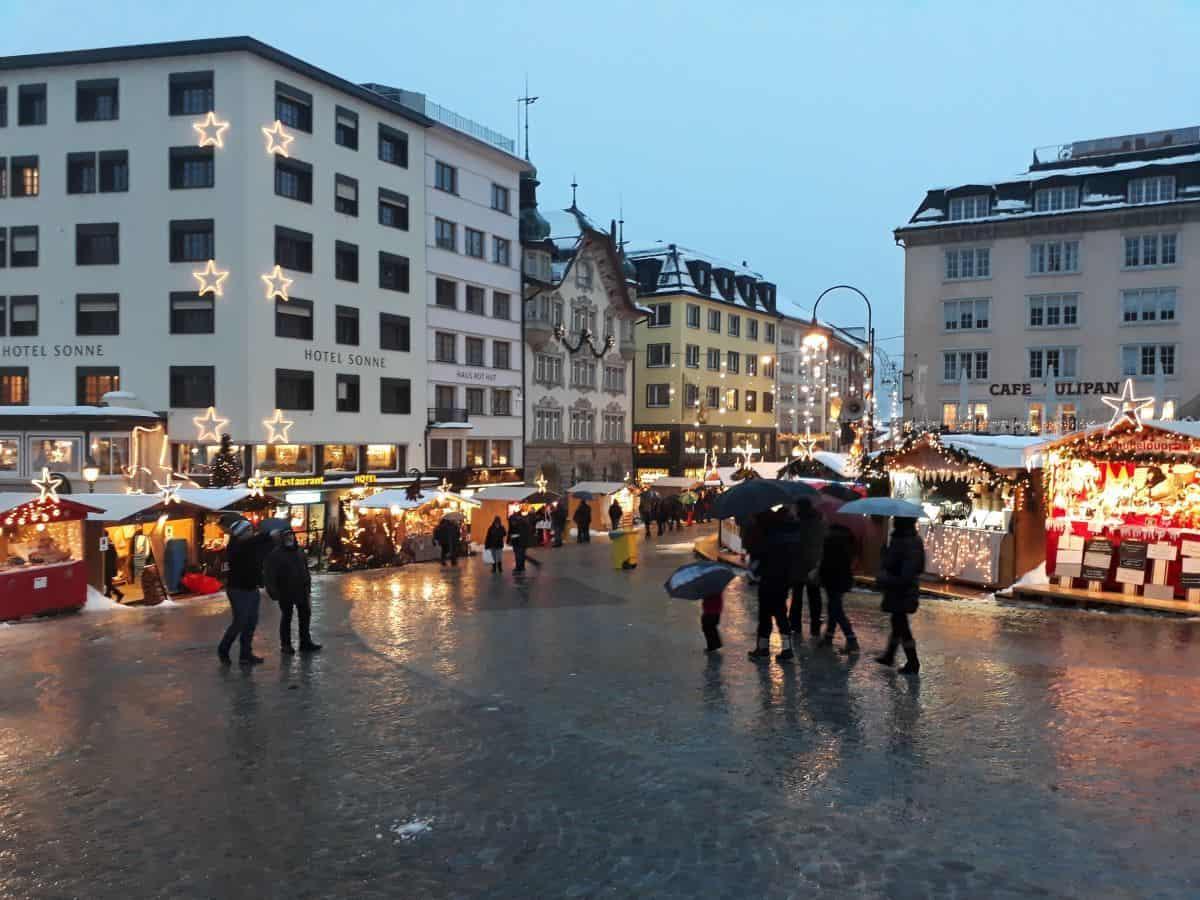 christmas market in Einsiedeln