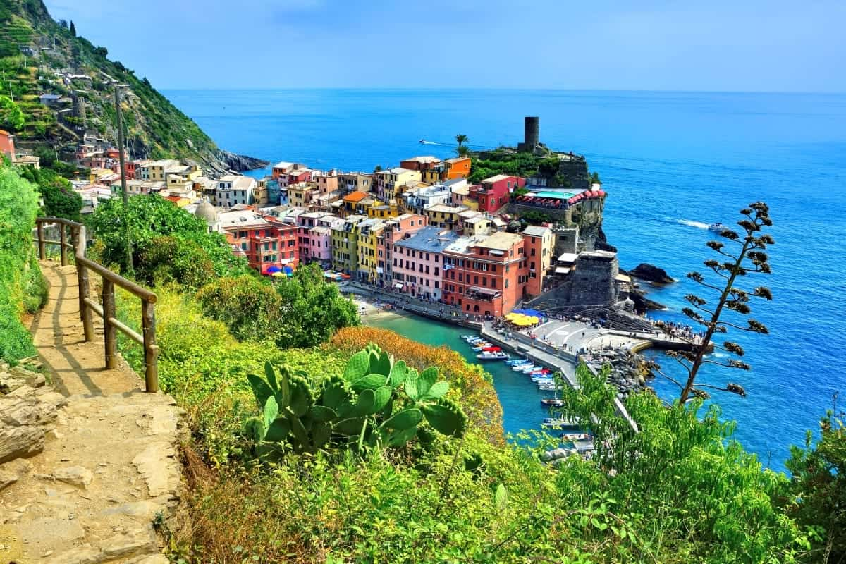 Hiking Trail in Cinque Terre village of Vernazza Italy