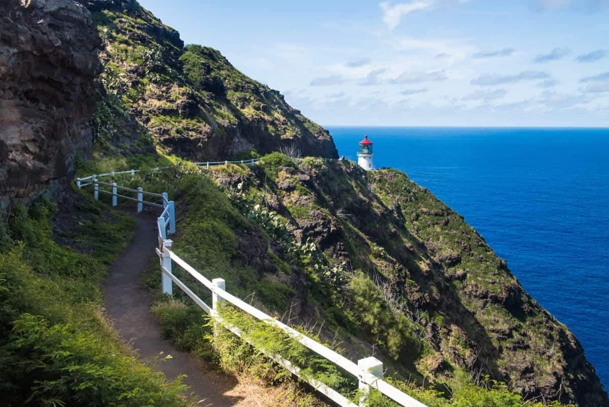 Trail to Makapu'u Point Lighthouse Oahu Hawaii