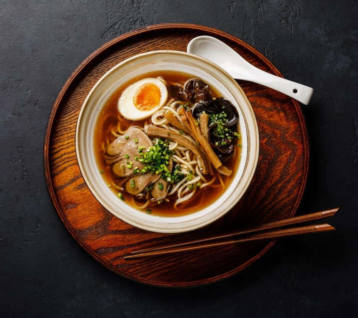 Ramen and egg noodles