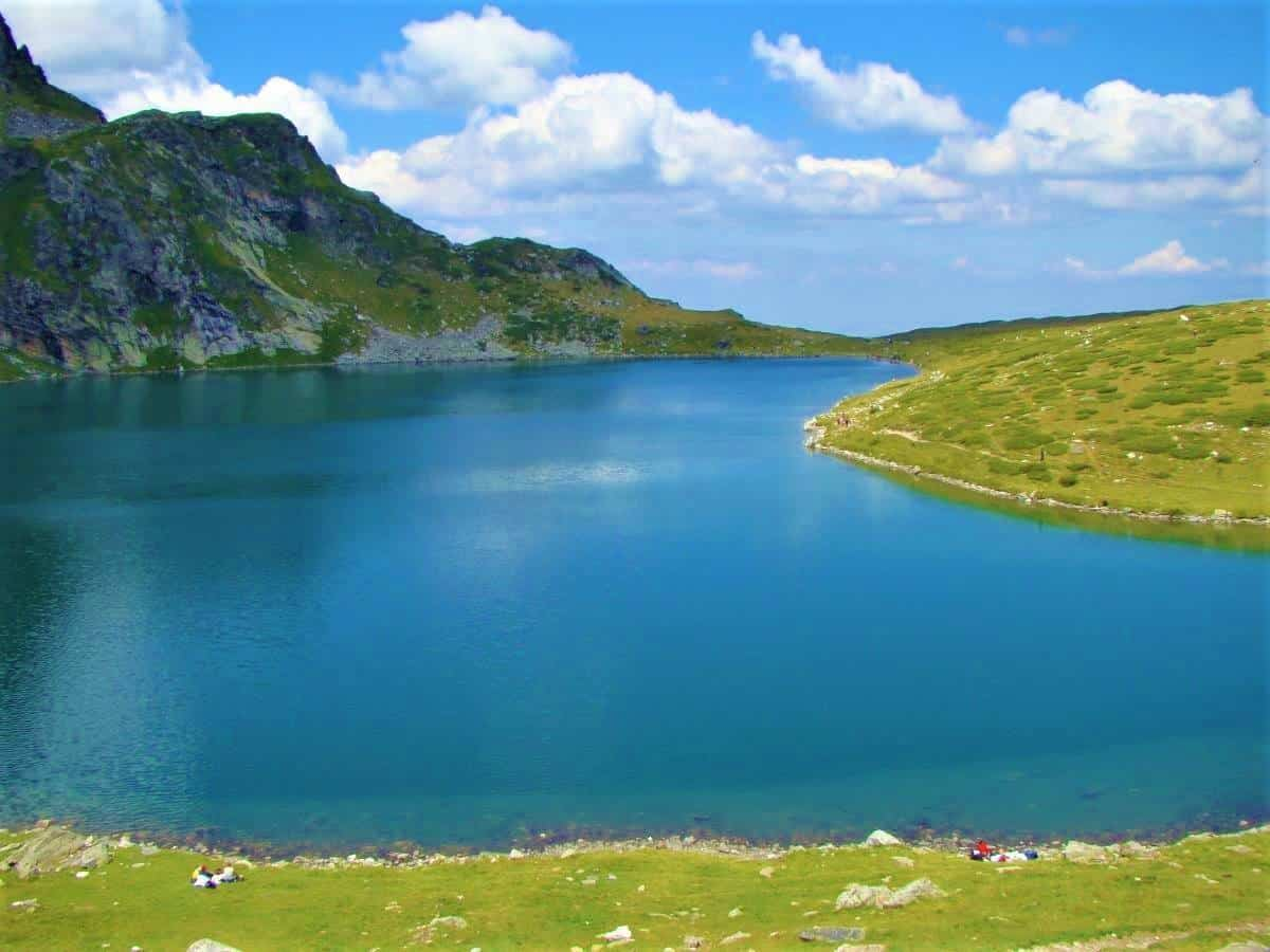 Lake Babreka one of the Seven Rila lakes Bulgaria
