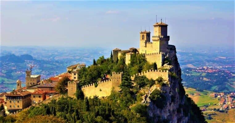 The fortress of Guaita on Mount Titano San Marino