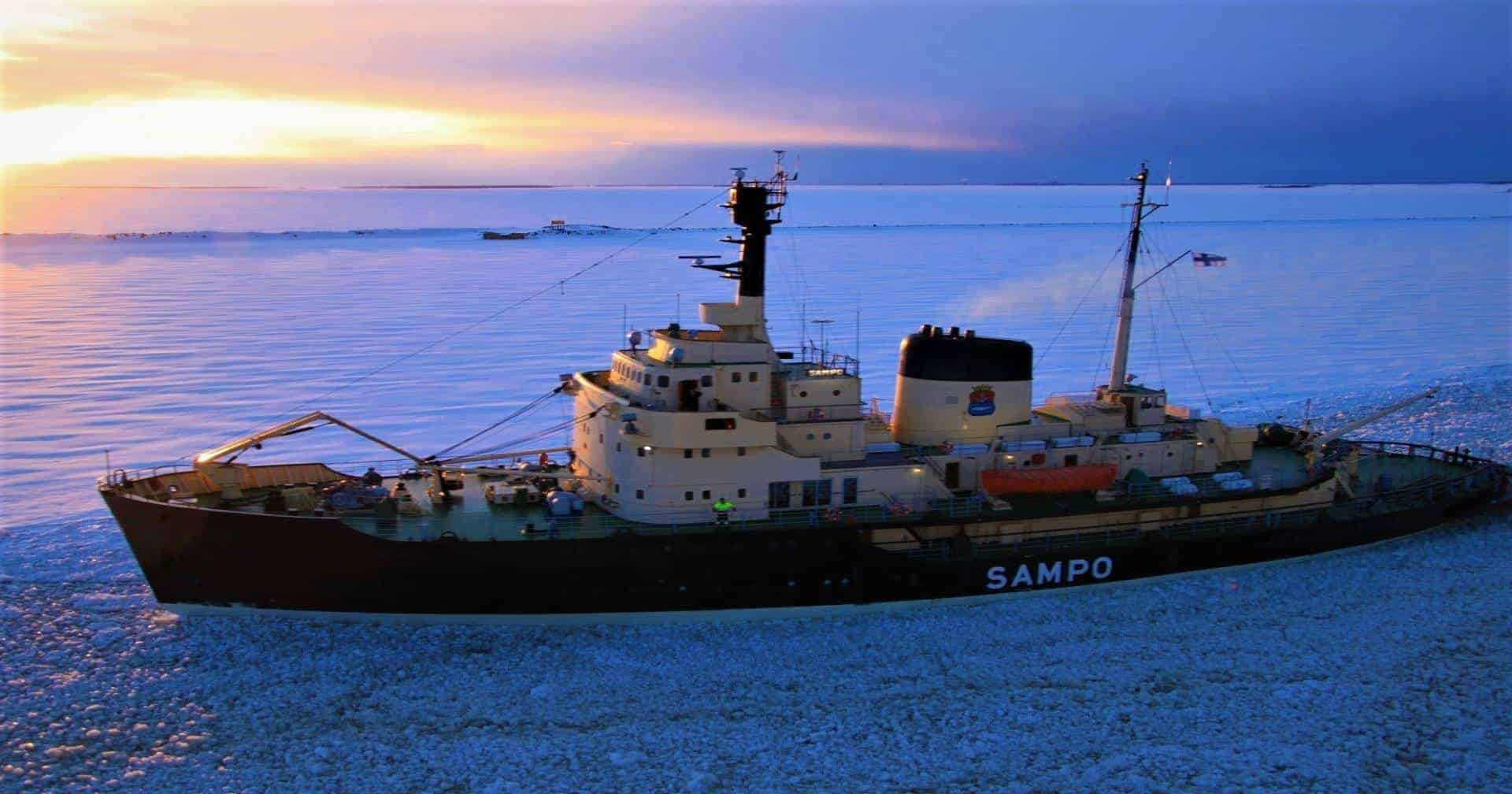 Icebreaker Sampo in Port of Kemi