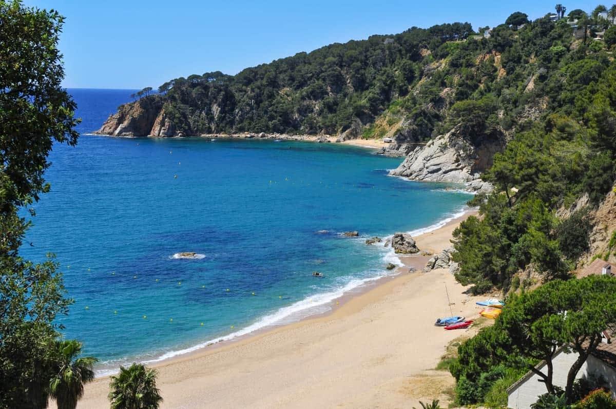 Cala Llorell in Tossa de Mar in the Costa Brava Catalonia Spain