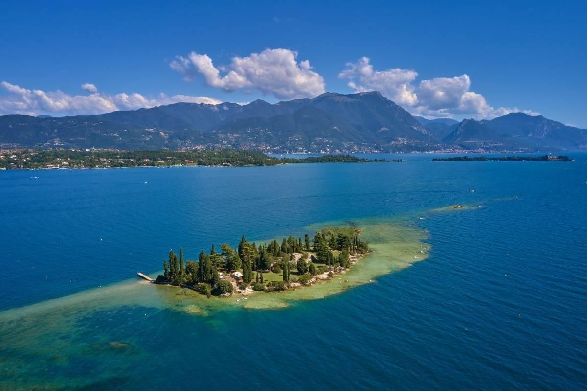 Best camping destinations in Europe: San Biagio Island Lake Ganda Italy