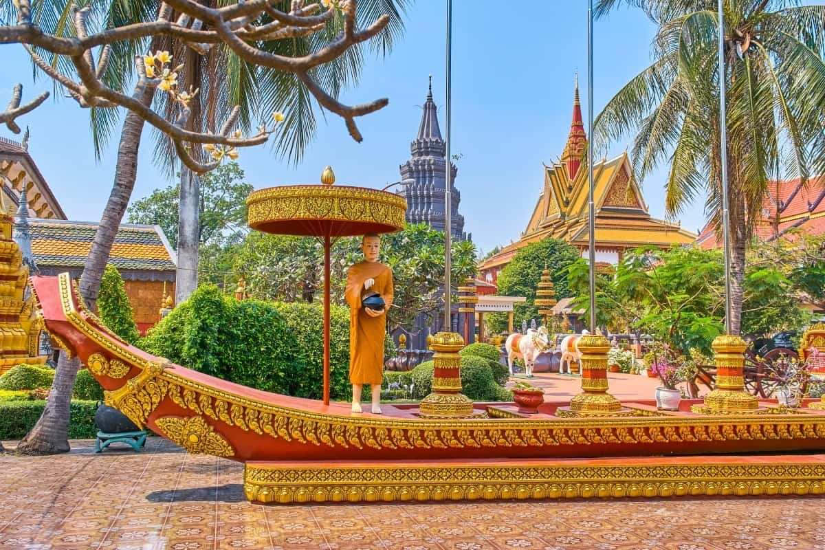 Wat Preah Prom Rath beautiful temple in Siem Reap Cambodia