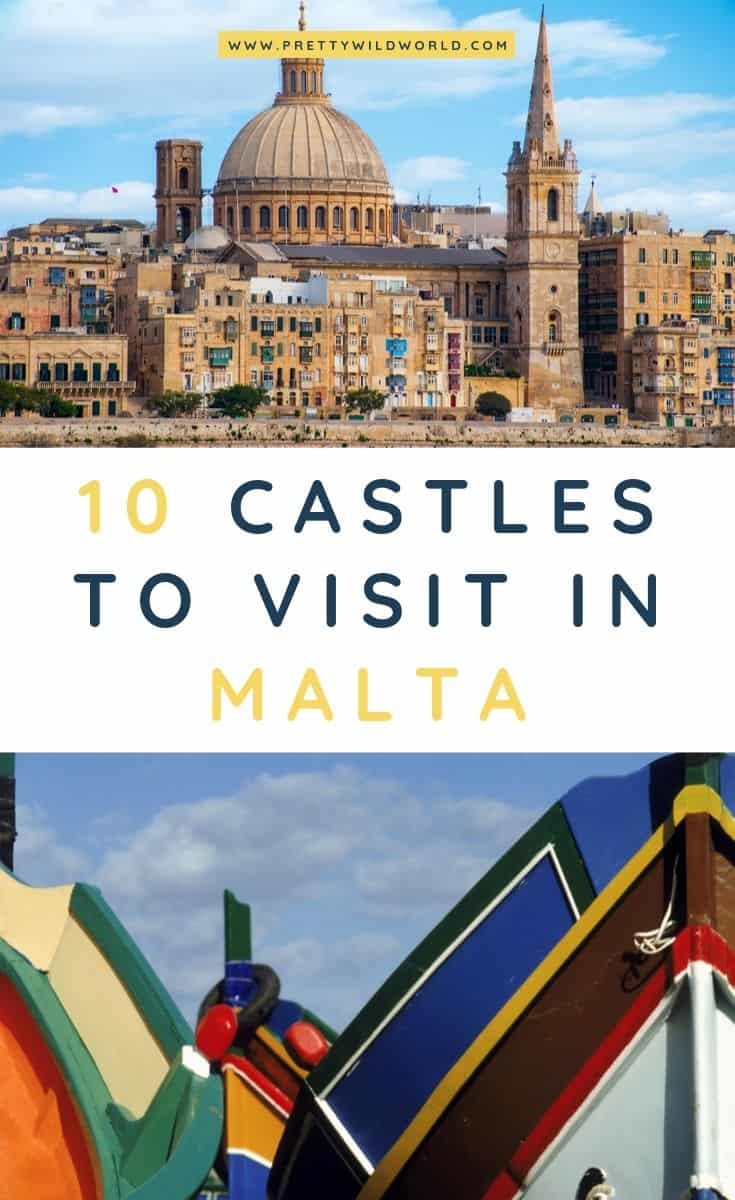Castles in Malta | Looking for something interesting and historical to see in Malta other than its usual tourist attractions? Learn a bit of history and find out what are the top castles in Malta! #Malta #europe #castles #palace #traveldestinations #traveltips #bucketlisttravel #travelideas #travelguide #amazingdestinations #traveltheworld