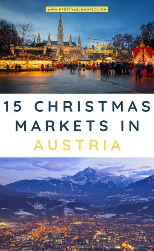 Christmas markets in Austria | Are you planning to visit a winter wonderland destination around the holidays? If you do, make sure not to miss the best Christmas markets in Austria. #austria #europe #christmas #traveldestinations #traveltips #bucketlisttravel #travelideas #travelguide #amazingdestinations #traveltheworld