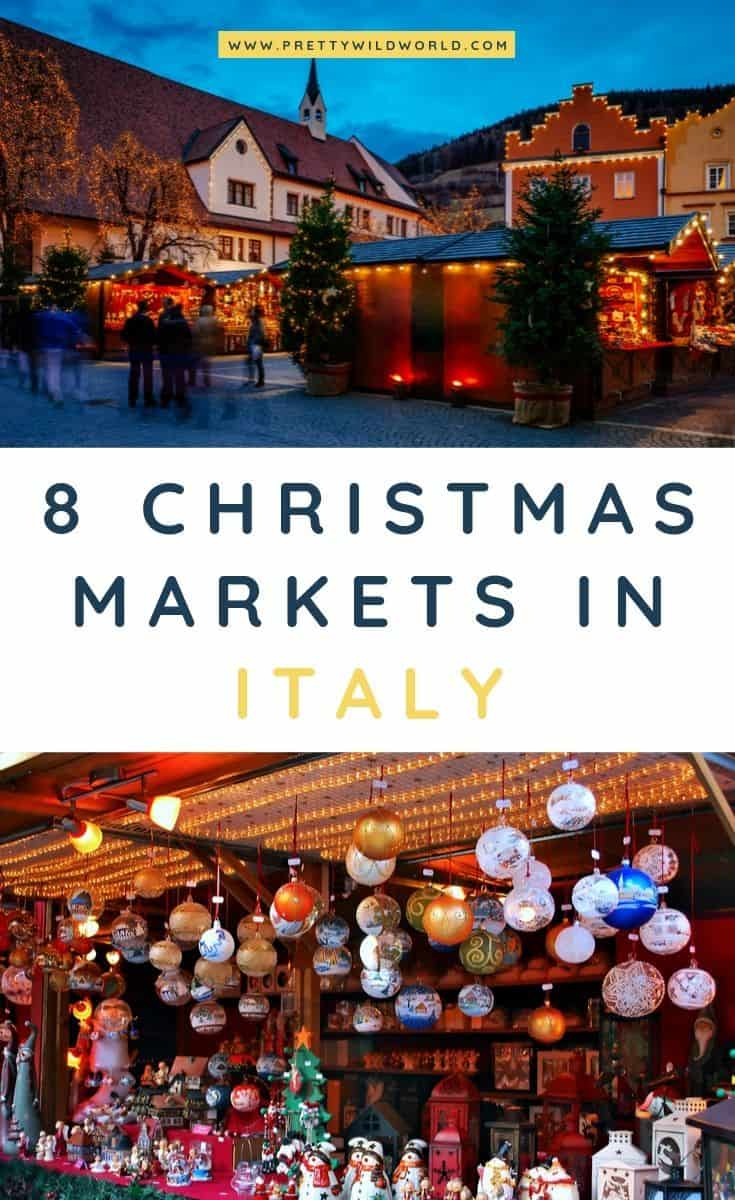 Christmas markets in Italy | If you're planning your Christmas holidays for this year and is looking at visiting Italy then make sure you don't miss the time when it have all of its Christmas markets up! #italy #europe #christmas #traveldestinations #traveltips #bucketlisttravel #travelideas #travelguide #amazingdestinations #traveltheworld