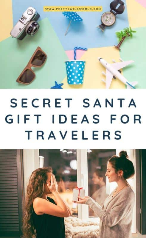 Secret Santa Gift Ideas for Travelers | Looking for the best secret santa gifts for coworkers, for women, for teens, for guys, under under $10, DIY, under 25, for girls or funny gift ideas? Read this post now or pin it for later read! #giftideas #secretsanta #under10$ #giftideas #giftsforfriends #giftsforher #giftsforherchristmas #christmas #christmasgifts #christmasgiftideas #giftsfortravelers