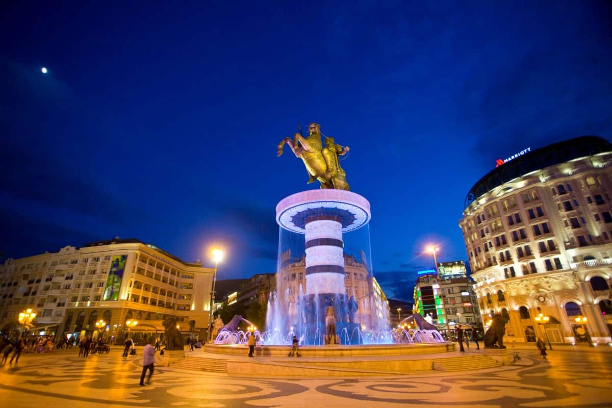 Places to Visit in East Europe Macedonia Square, Skopje Macedonia