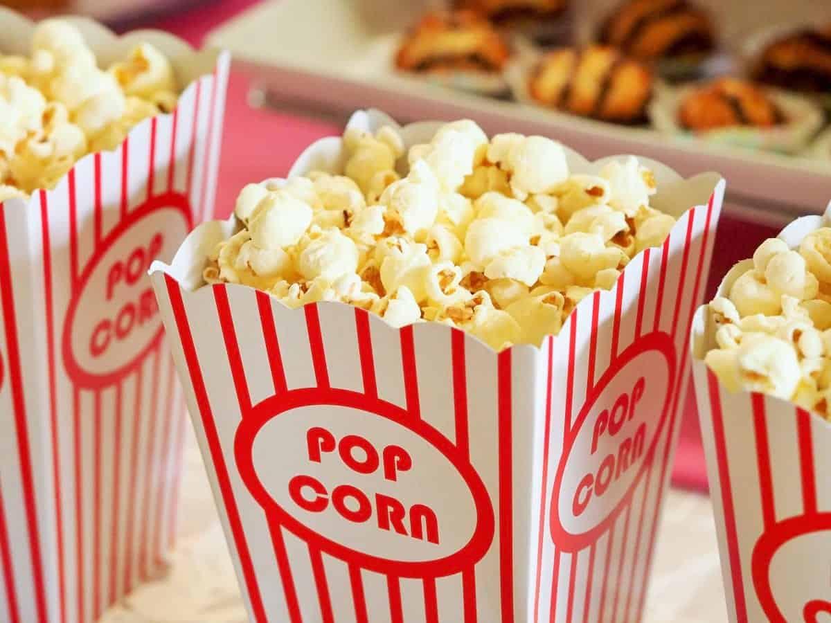 Road trip snacks: Popcorn