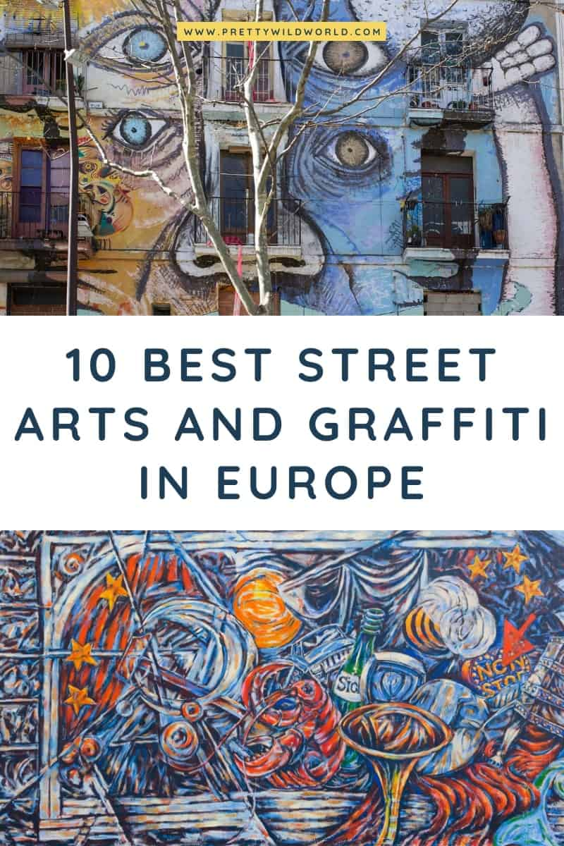 Street Art in Europe | Looking for european art, graffiti in europe, european graffiti, or graffiti in europe? Read this post now or pin it for later read! #europe #traveldestination #traveltips #bucketlisttravel #amazingdestinations #travelideas #traveltheworld #travelguides