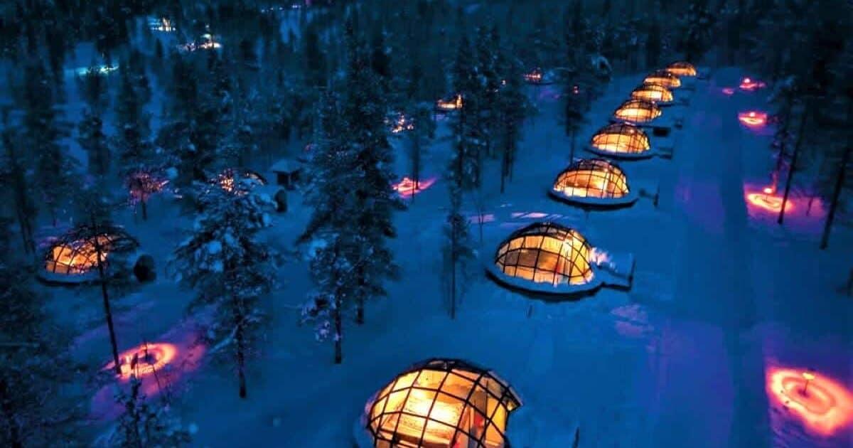 Unique Hotels in Finland Igloo village Kakslauttanen