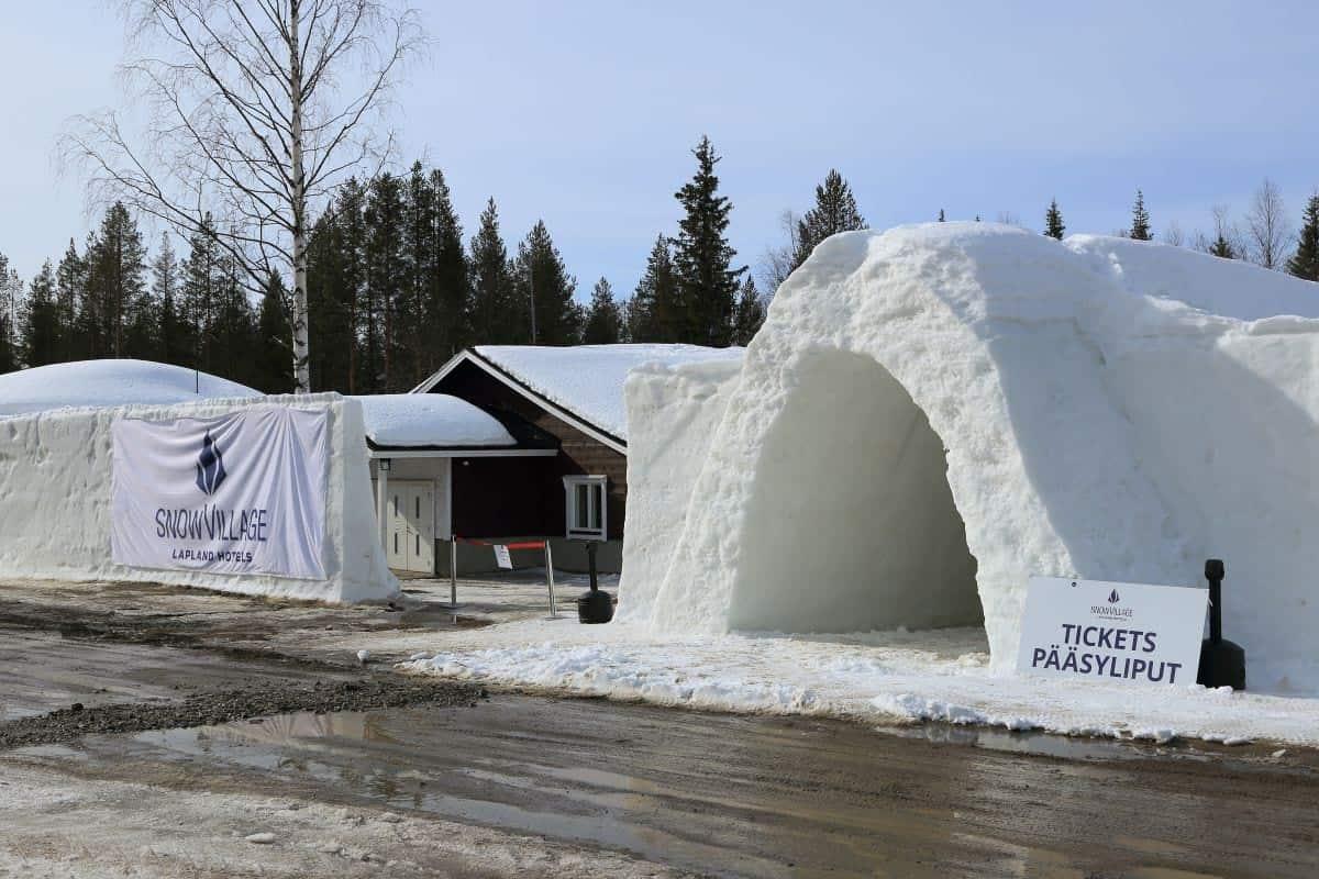 Unique Hotels in Finland Lainio Snow Village