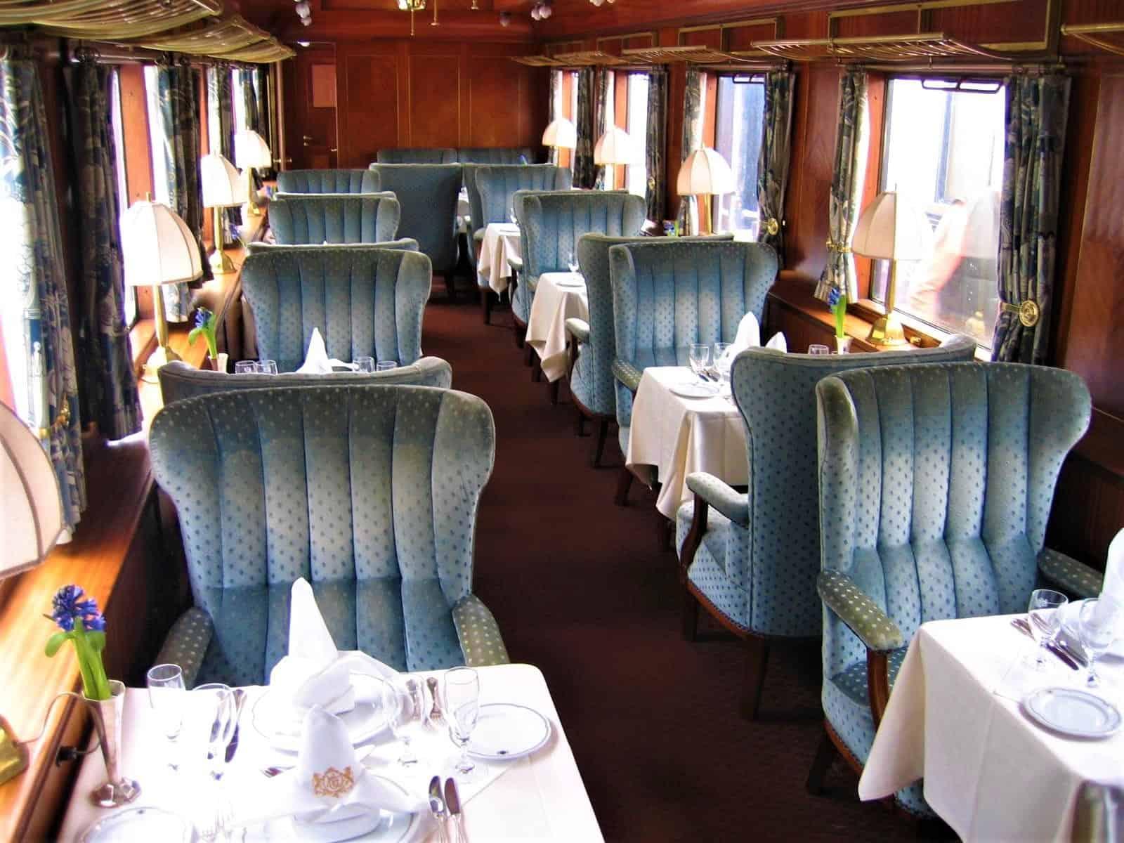 Train dining area