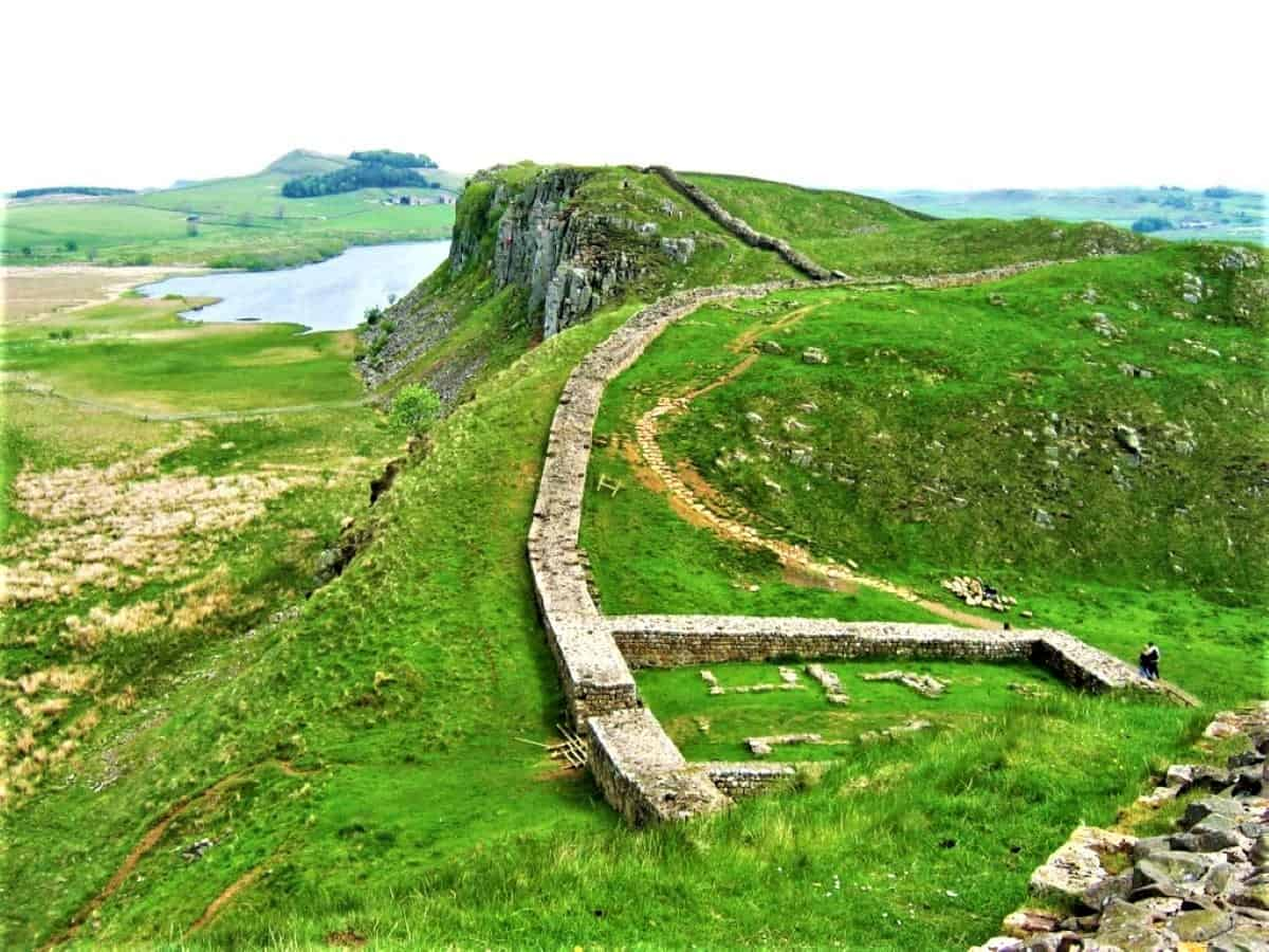 Hadrianswall in Northumberland National Park