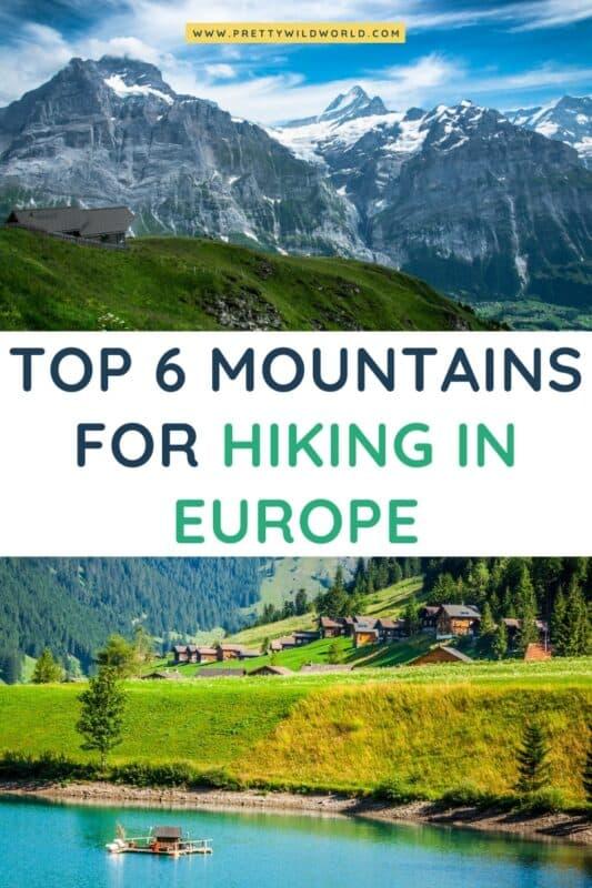 Hiking in Europe | mountains, hiking vacations, summer hiking, hiking trip, hiking places, hiking ideas, hiking adventure, hiking inspiration, trip to europe, travel to europe #europe #traveldestination #traveltips #bucketlisttravel #amazingdestinations #travelideas #traveltheworld #travelguides