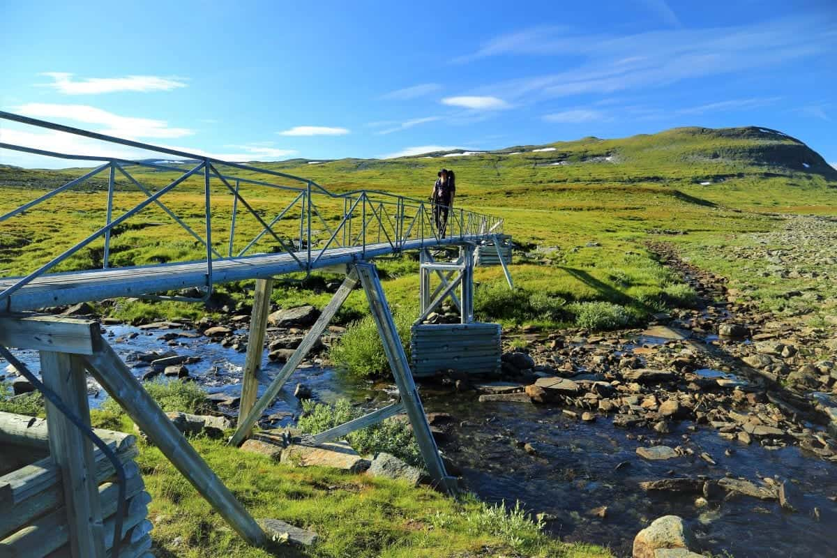 Hikes in Sweden: the arctic trail or Nordkalottruta hiking Trail