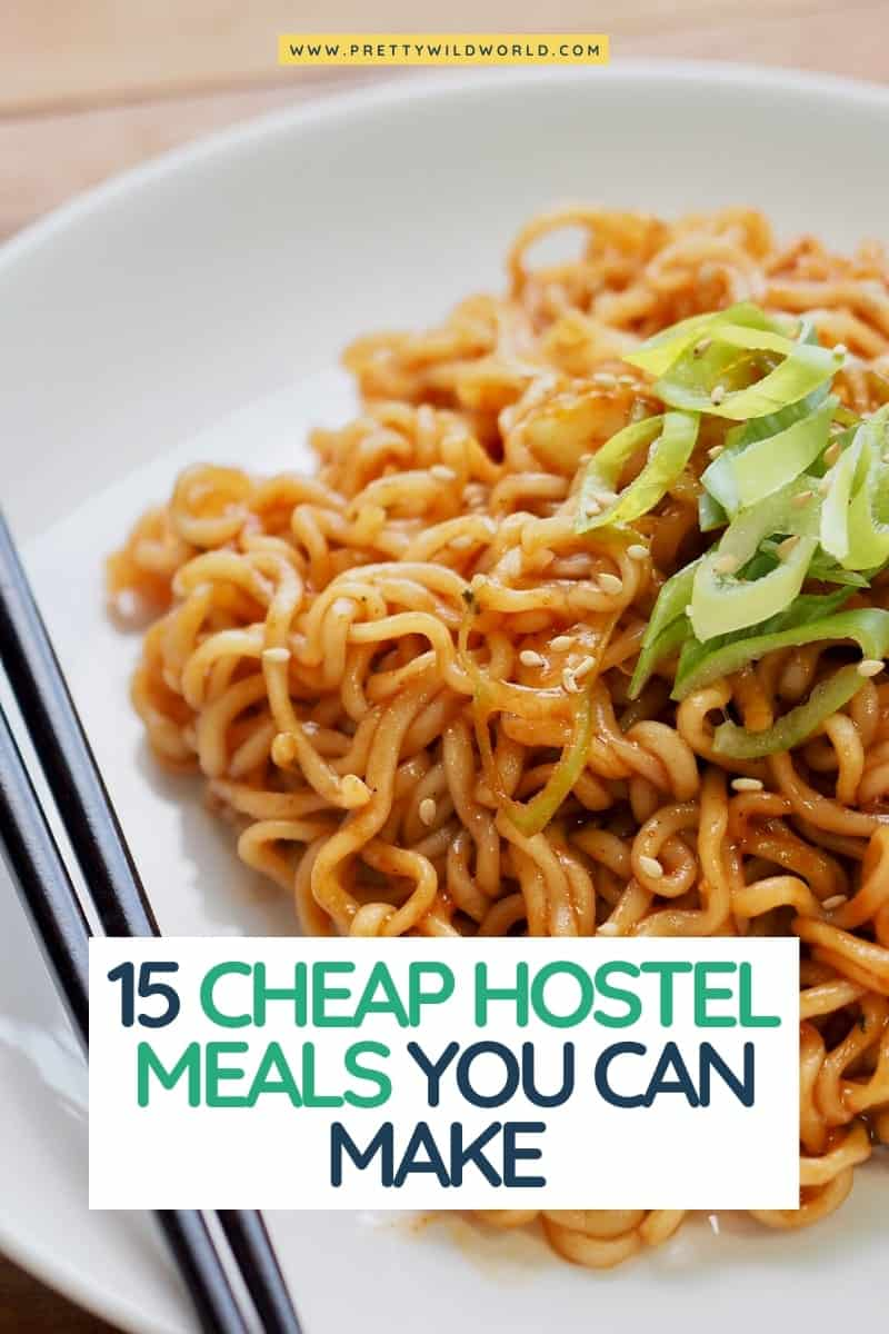 Looking for cheap hostel meals you can easily make? hostel food, hostel meals, hostel food hacks, backpacker breakfast, cooking while backpacking, hostel food hacks, foods that travel well without refrigeration, food to carry while travelling abroad, basic kitchen supplies, easy meals while traveling, healthy hostel meals, cooking while traveling #europe #traveldestinations #traveltips #travelguide #travelhacks #bucketlisttravel #amazingdestinations #travelideas #traveltheworld