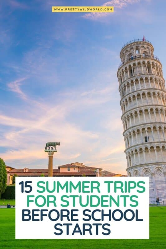 Looking for the best summer trips for students before school starts? trips for students, student getaways, best places for college students to travel, summer travel ideas for students, college student travel package, college trips abroad, cheap summer activities for college students, summer adventures for college students #europe #traveldestinations #traveltips #travelguide #travelhacks #bucketlisttravel #amazingdestinations #travelideas #traveltheworld