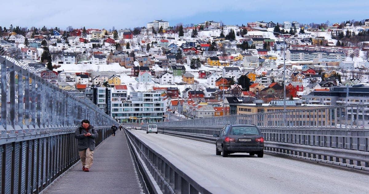 Tromso Bridge Norway Winter