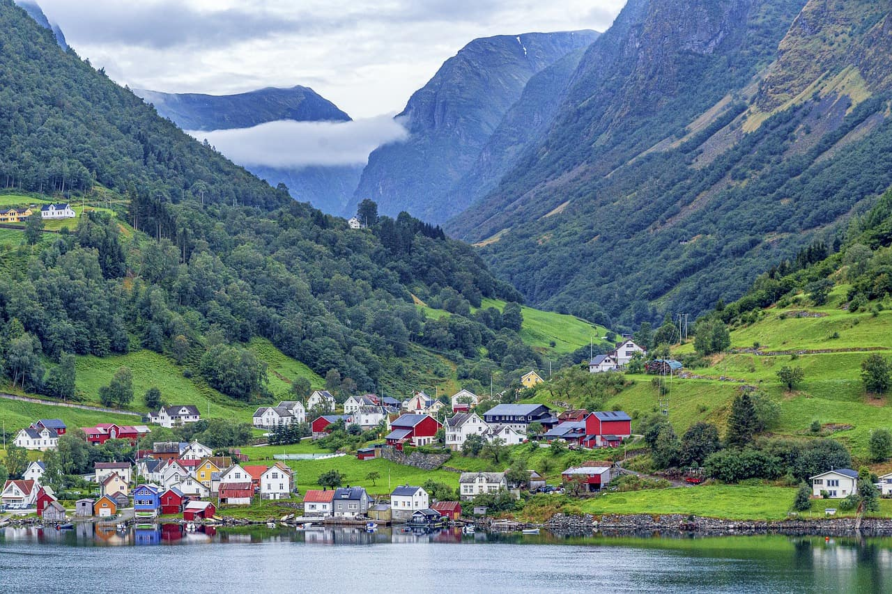 Undredal town Norway