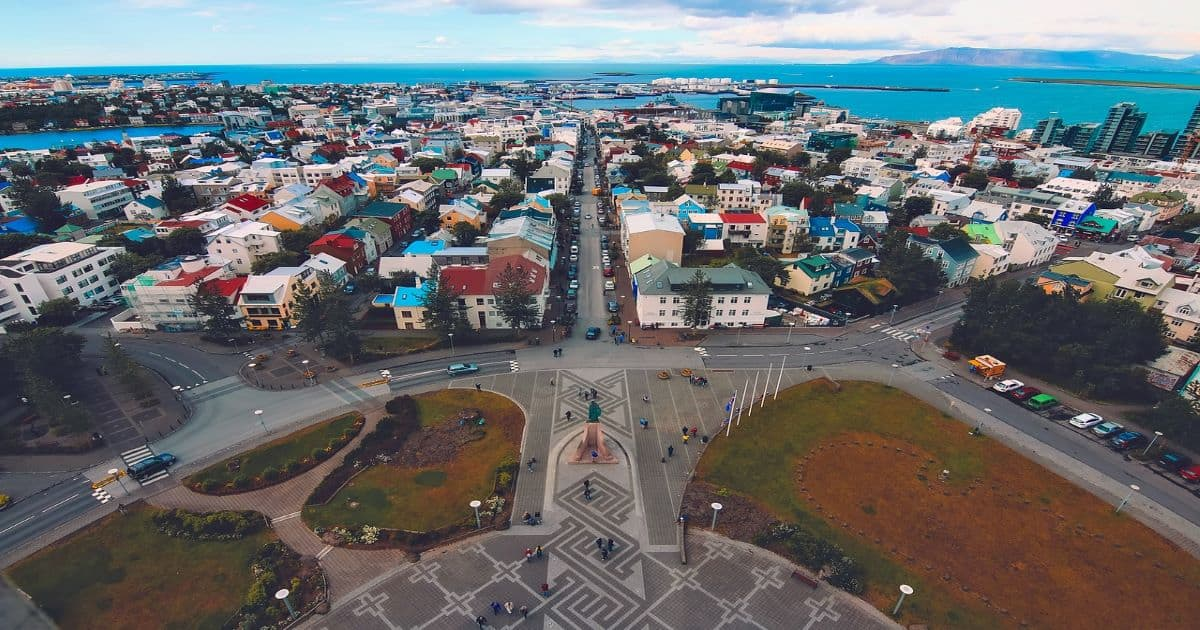Iceland city view