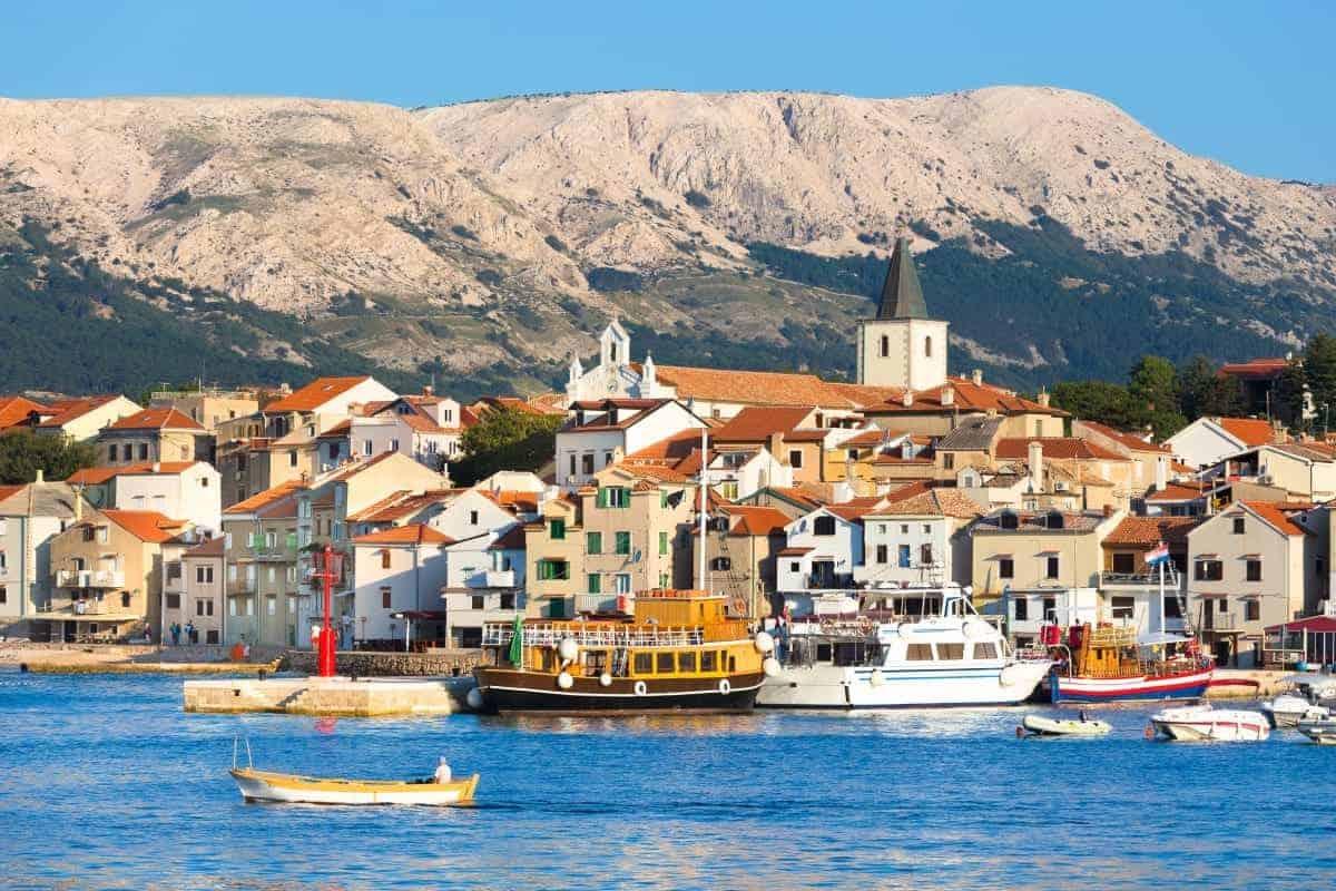 Baska town KRK Island Croatia