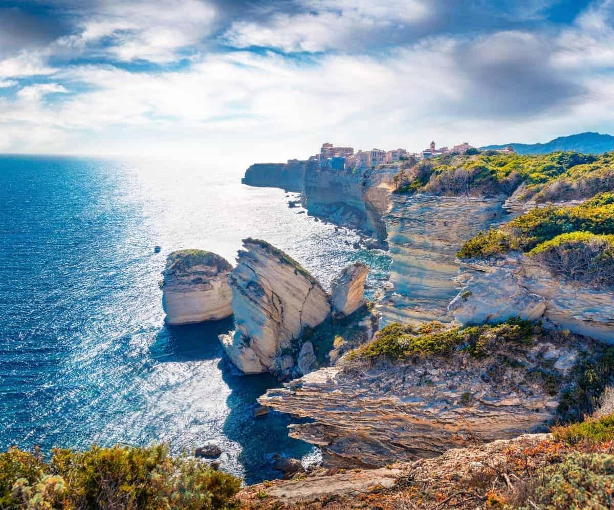 bonifacio cliff corsica island France