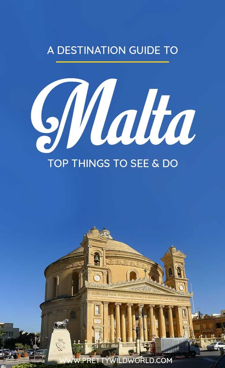 Planning a trip to the beautiful city of Malta? Check out this first-timer's guide to Malta that includes all the top things to do in Malta, places to go in Malta, places to see in Malta, what to see in Malta, and places to stay in Malta. Save this Malta travel guide in your travel board so you'll find it later! #Malta #Europe #travel #travelblog