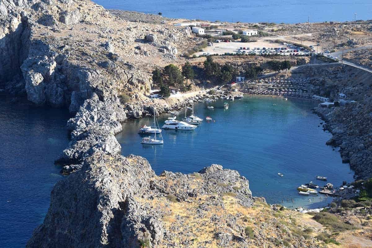 top tourist attractions in rhodes greece st paul bay lindos