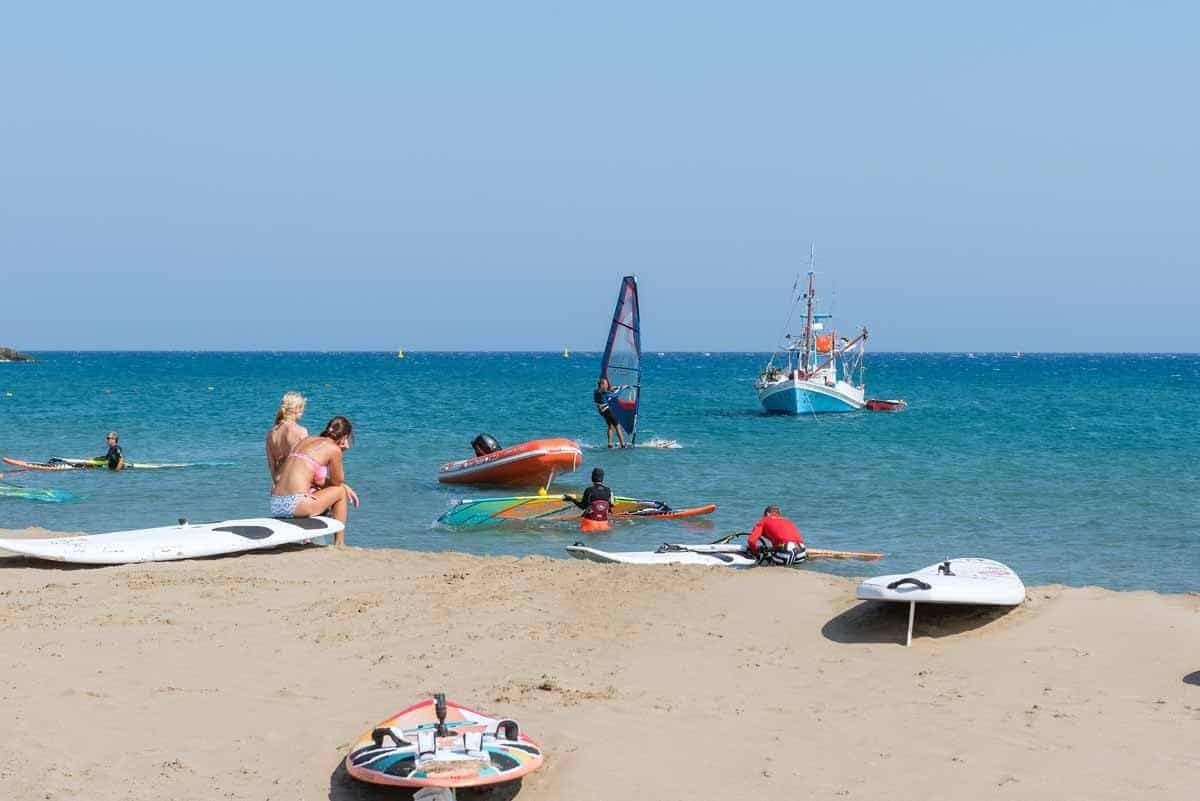top tourist attractions in rhodes greece water sports surfing