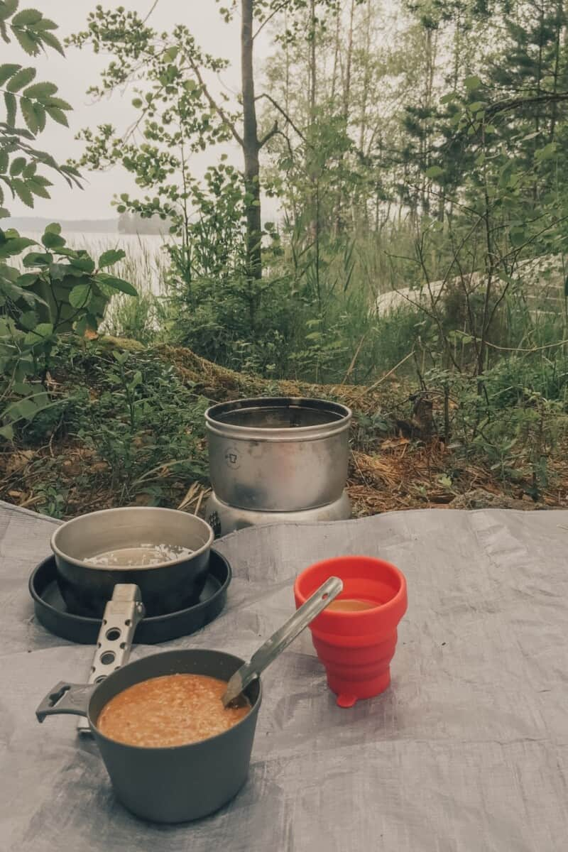 One summer in Finland I went climbing and camping with a friend!